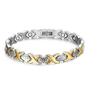 Titanium Stainless Steel Magnetic Therapy Bracelet